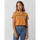 FULL TILT Stripe Crop Womens Polo Shirt
