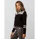 FULL TILT Color Block Varsity Stripe Womens Hoodie