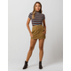 SKY AND SPARROW Contrast Stitch Womens Mini Skirt