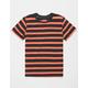 BLUE CROWN Simple Stripe Red & Black Boys T-Shirt
