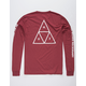 HUF Essentials TT Dark Red Mens T-Shirt