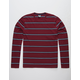 TAVIK Cooper Burgundy Mens T-Shirt