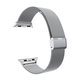 ELEMENT WORKS 42mm Milanese Loop Silver Apple Watch Wristband