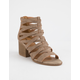 QUPID Core Taupe Womens Heeled Sandals