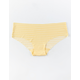 FULL TILT Stripe Laser Cut Light Yellow Panties