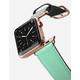 CASETIFY 38mm Mint And Stripes Gold Apple Watch Band