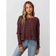FOX Striped Out Womens Crop Thermal