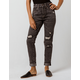 VOLCOM Super Stoned Womens Ripped Skinny Jeans
