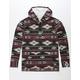 VSTR Geo Stripe Mens Hooded Flannel Shirt