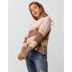 WOVEN HEART Matte Stripe Womens Chenille Sweater