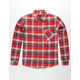 SHOUTHOUSE Oroville Red Mens Flannel Shirt