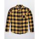 RSQ Park Mens Gold Flannel Shirt