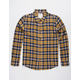 VSTR Sunshine Mustard Mens Flannel Shirt