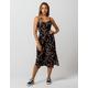 MIMI CHICA Floral Smocked Waist Midi Dress