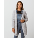 WOVEN HEART Cable Womens Chenille Cardigan