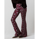 SKY AND SPARROW Floral & Aztec Womens Flare Pants