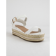 BAMBOO Infinity White Womens Platform Espadrille Sandals