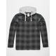 ELEMENT Miller Black Mens Hooded Flannel Shirt