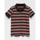 FULL TILT Rainbow Stripe Zip Front Girls Polo