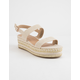 BAMBOO Infinity Natural Womens Platform Espadrille Sandals