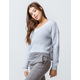 RAZZLE DAZZLE V-Neck Light Blue Womens Sweater