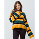 WOVEN HEART Fuzzy Stripe Womens Sweater