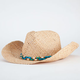 Beaded Straw Womens Cowboy Hat