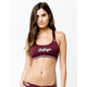 TOMMY HILFIGER Seamless Scoop Burgundy Bralette