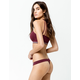TOMMY HILFIGER Seamless Burgundy Thong
