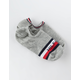 TOMMY HILFIGER 2 Pack Gray Womens No Show Socks