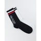 TOMMY HILFIGER 2 Pack Black & White Womens Crew Socks