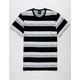 HUF Worldwide Stripe Black Mens T-Shirt