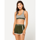 CALVIN KLEIN Modern Cotton Dark Green Womens Dolphin Shorts