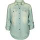 FULL TILT Roll Up Sleeve Girls Denim Shirt