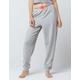CALVIN KLEIN Monogram Logo Heather Gray Womens Jogger Pants