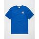 CHAMPION Screen Logo Blue Mens T-Shirt