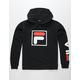 FILA Double Logo Black Boys Hoodie