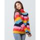 WOVEN HEART Stripe Turtle Neck Womens Sweater