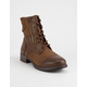 DIRTY LAUNDRY Tilley Cognac Womens Combat Boots