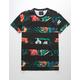 BLUE CROWN Split Tropics Mens T-Shirt