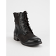 DIRTY LAUNDRY Tilley Black Womens Combat Boots