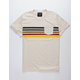 BLUE CROWN Old School Stripe Mens Pocket Tee