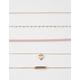 FULL TILT 5 Piece Heart & Bar Choker Necklace