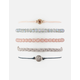 FULL TILT 5 Pack Braid & Rhodochrosite Bracelets