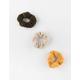 FULL TILT 3 Pack Mustard Teddy Scrunchies