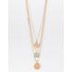 FULL TILT 3 Pack Crystal & Medallion Necklaces