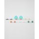 FULL TILT 6 Pairs Triangle & Circle Earrings