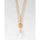 FULL TILT Crystal & Triangle Layered Necklace