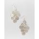 FULL TILT Flower Silver Chandelier Earrings
