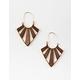FULL TILT Wood Chandelier Earrings